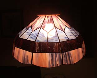 Lampes tiffany - Abat jour lyre ...